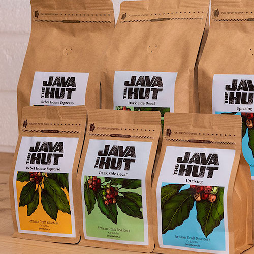 java the hut coffee selection